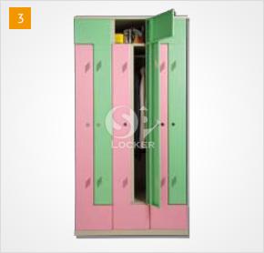 6人用置物櫃(L型)